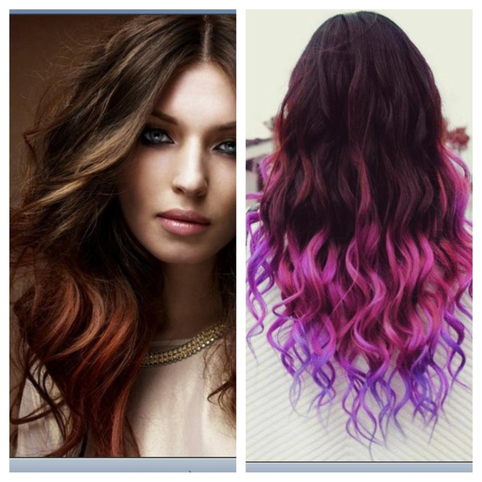 Red Purple Ombre Hair Purple ombre on the right!